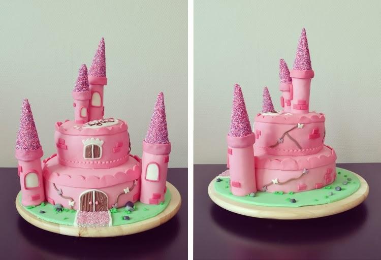 Gâteau de princesse rose
