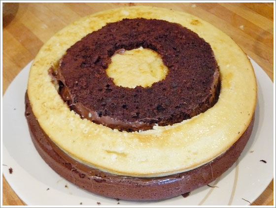 Assemblage du gâteau