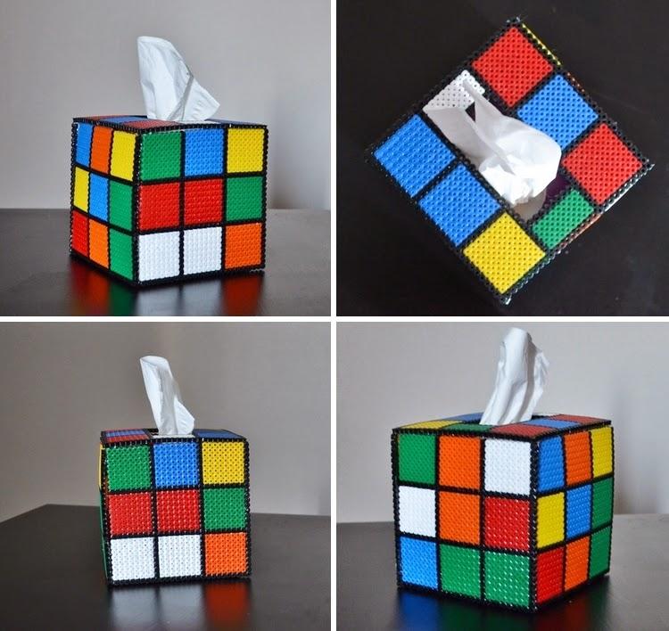 Boite à mouchoir Rubiks Cube