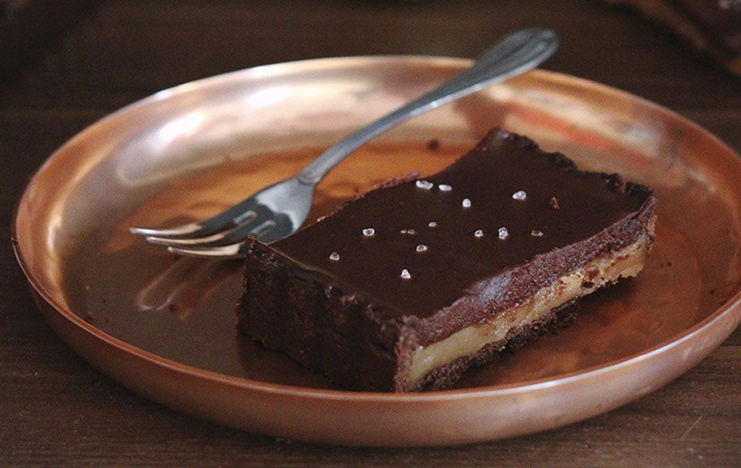 recette tarte chocolat caramel