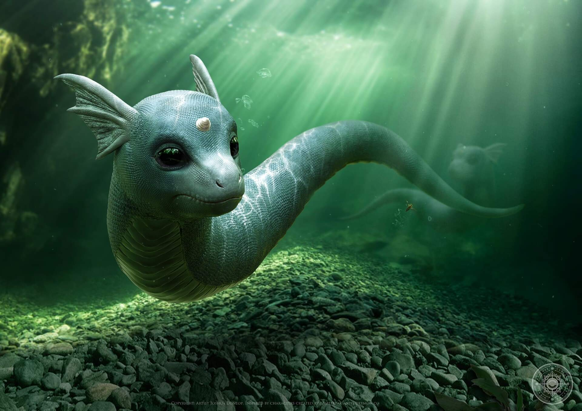 Minidraco sous l'eau